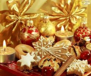 Układanka Ciasteczka na Boże Narodzenie