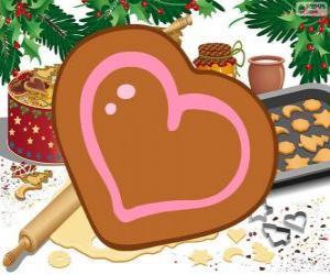 Układanka Ciasteczko w kształcie serca