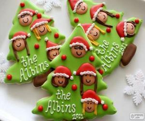 Układanka Ciastka świąteczne choinki w kształcie