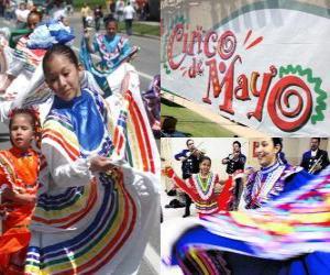 Układanka Cinco de Mayo obchodzony jest 5 maja w Meksyku i Stanach Zjednoczonych z okazji 1862 Bitwa o Puebla