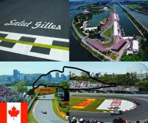 Układanka Circuit Gilles Villeneuve - Kanada -