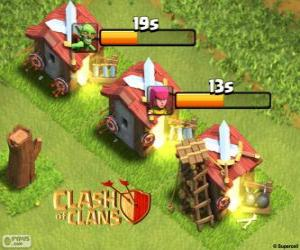 Układanka Clash of Clans koszar
