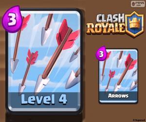 Układanka Clash Royale strzałki