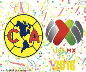 Układanka Club America, mistrz Apertura 2018