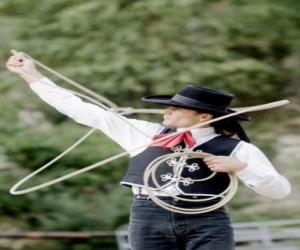 Układanka cowboy Kobiety jazdy link