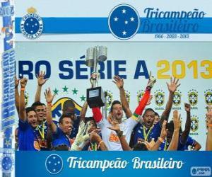 Układanka Cruzeiro, mistrzem Brazylii w piłce nożnej w 2013 roku. Brasileirão 2013