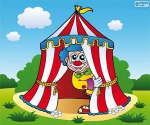 Układanka Cyrk namiot