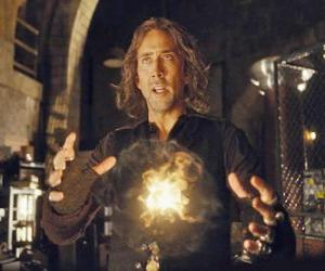 Układanka Czarodziej lub czarownika z magii ognia