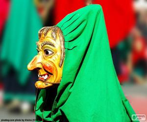 Układanka Czarownica maska