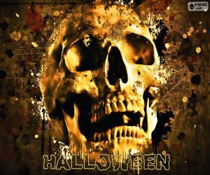 Układanka Czaszka Halloween