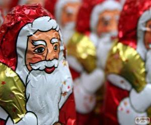 Układanka Czekoladowy Mikołaj