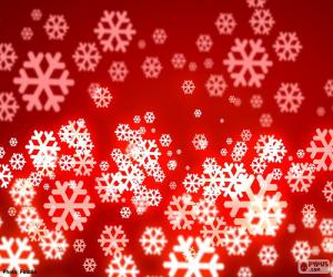 Układanka Czerwone Boże płatki śniegu