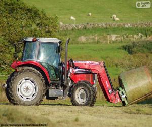 Układanka Czerwony traktor