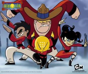 Układanka Czterech młodych mnichów, bohaterowie Xiaolin pojedynek mistrzów