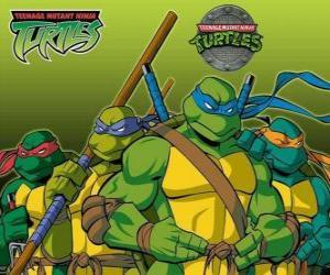 Układanka Cztery Żółwie Ninja: Leonardo, Michel Angelo, Donatello i Raphael. Wojownicze Żółwie Ninja, TMNT
