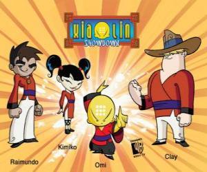 Układanka Cztery wojownicy Xiaolin: Raimundo, Kimiko, Omi i Clay