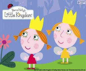 Układanka Daisy i Poppy, wróżki bliźniaków, Siostrzyczki Holly