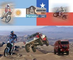 Układanka Dakar 2011 Argentina Chile