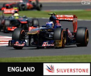 Układanka Daniel Ricciardo - Toro Rosso - Silverstone, 2013