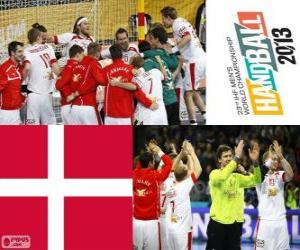 Układanka Danii w piłce ręcznej 2013 Pucharu świata srebrny medal