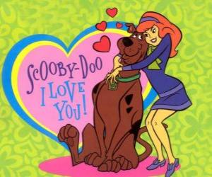 Układanka Daphne obejmując Scooby Doo