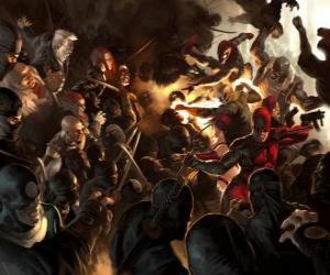 Układanka Daredevil, Człowiek bez strachu jest ciemno superbohater, który ma inne zmysły rozbudowane i posiada szósty zmysł echolokacji