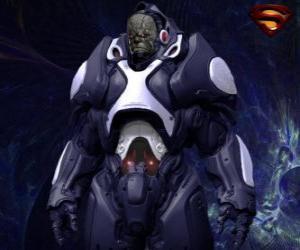Układanka Darkseid, tyran odległego świata Apokolips zwanych kosmicznych bogów.