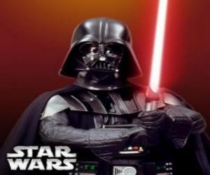 Układanka Darth Vader ze swoim mieczem świetlnym