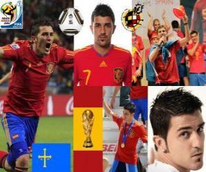 Układanka David Villa (cel Hiszpanii) hiszpański piłce do przodu