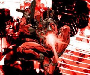 Układanka Deadpool jest najemnikiem lub villain lub antybohatera