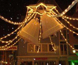Układanka Dekoracja Boże Narodzenie dzwony
