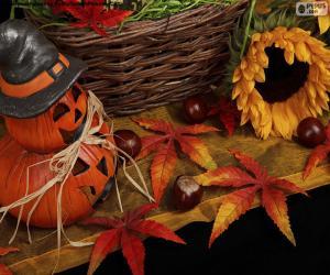 Układanka Dekoracja na Halloween