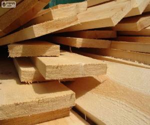 Układanka Desek drewnianych