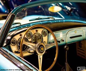 Układanka Deska rozdzielcza klasycznego samochodu