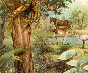 Układanka Diabeł jak wąż Drzewa Poznania Dobra i Zła