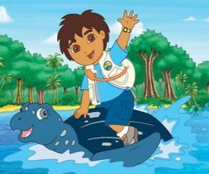 Układanka Diego na morzu na skorupę żółwia morskiego