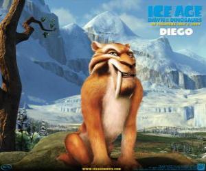 Układanka Diego, tygrys szablozębny tygrys