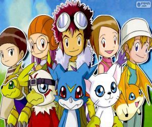 Układanka Digimon z głównych bohaterek