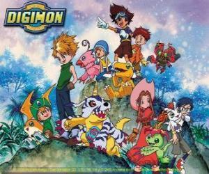 Układanka Digimon znaków