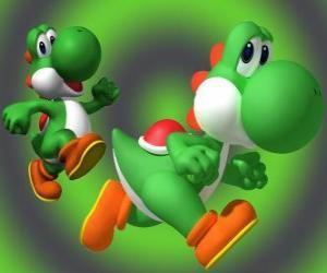 Układanka Dinosaur Mario Yoshi jest najlepszym przyjacielem
