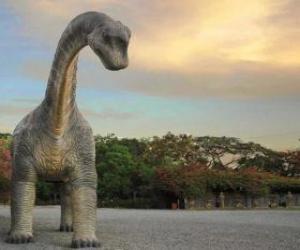 Układanka Dinosaur w krajobraz