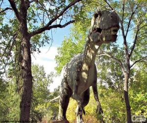 Układanka Dinozaur w lesie