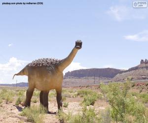 Układanka Dinozaury w krajobraz pustyni