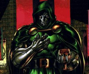 Układanka Doctor Doom to supervillain i wrogiem Fantastic Four