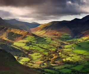 Układanka Dolina Newlands, Cumbria, Anglia