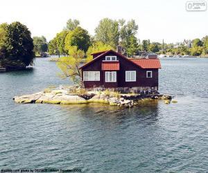 Układanka Dom na małej wyspie