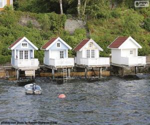 Układanka Dom nad jeziorem, Norwegia