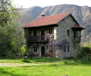 Układanka Dom w dziedzinie