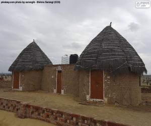 Układanka Domki w Indiach