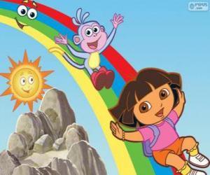 Układanka Dora, Boots i tęcza